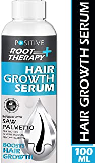 POSITIVE Root therapy Plus+ Hair Growth Serum | Saw Palmetto, Biotin, Pea Protein, Glycine Soja Oil, Pentavitin & Biotin | 100 Ml
