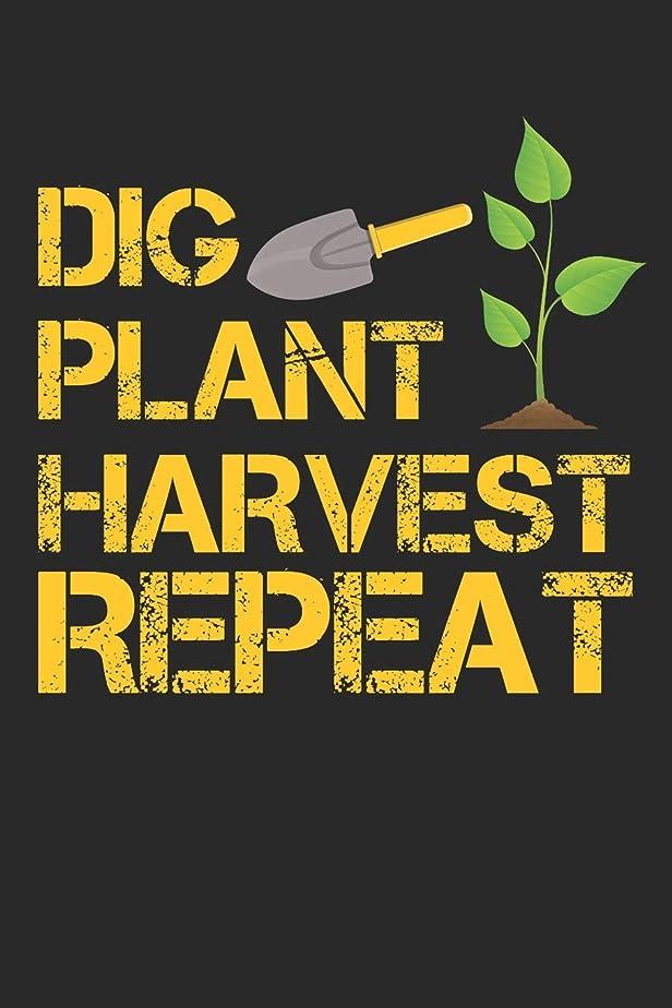 裏切り目に見えるスカルクDig Plant Harvest Repeat: 6x9 Blank Lined Composition Notebook for Gardening People and Farmers