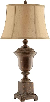 "Stein World 90021 Natasha Resin Table Lamp, 17"" x 17"" x 34.5"""