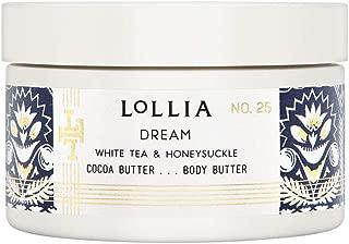 Lollia Dream Whipped Body Butter - White Tea & Honeysuckle