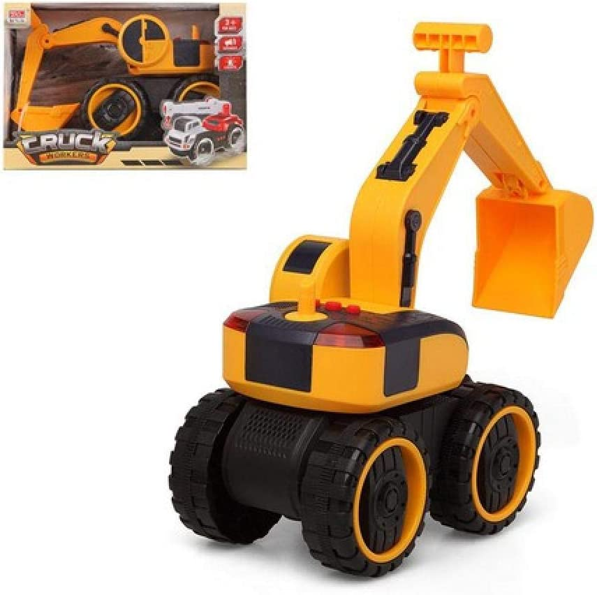 BigBuy Fun S1123951 City Excavator Workers Truck 70% OFF Outlet Yellow Denver Mall