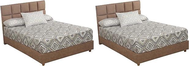 Al Maamoun Diamond Patterned Bed Sheet Set, 180x240 cm - 6 Pieces