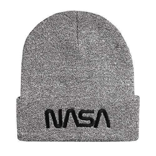 Nasa Herren Space Station Beanie-Mtze, grau meliert, Einheitsgröße