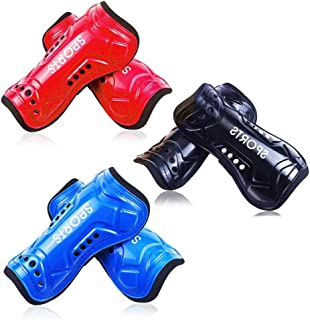 LEMIKAI Soccer Shin Guards for Kids, 3 Pairs Perforated...