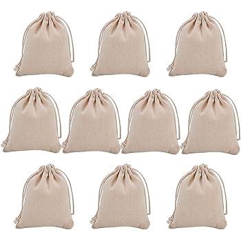 NBEADS 10 Bolsas pequeñas de algodón con cordón, Bolsas de ...