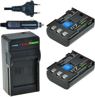 Chili Power NB-2LH NB-2L BP-2L5 BP de BP de 2LH Kit: 2x Batería + Cargador para Canon EOS 350d 400d Digital Rebel XT XTi PowerShot G7 G9 S30de S80 DC410 DC420 VIXIA HF R10 HF R100 HF R11
