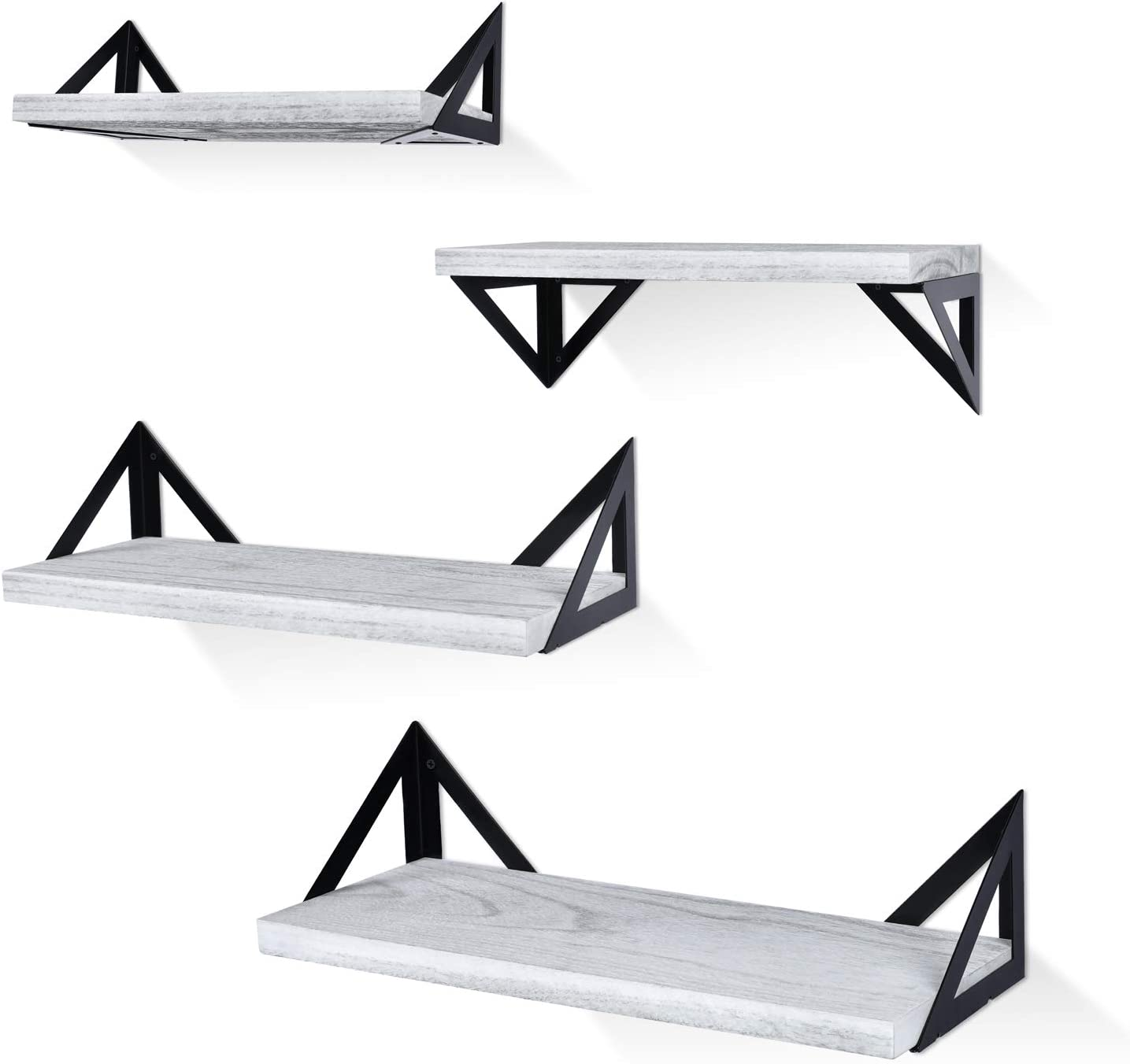 Superlatite Klvied Floating Shelves Wall Mounted Wood of Sales results No. 1 Set Rustic 4