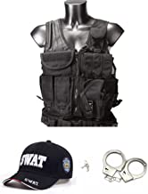 thematys S.W.A.T. Set 3 Partes - Gorra, Chaleco y Esposas SWAT Carnaval, Halloween & Cosplay