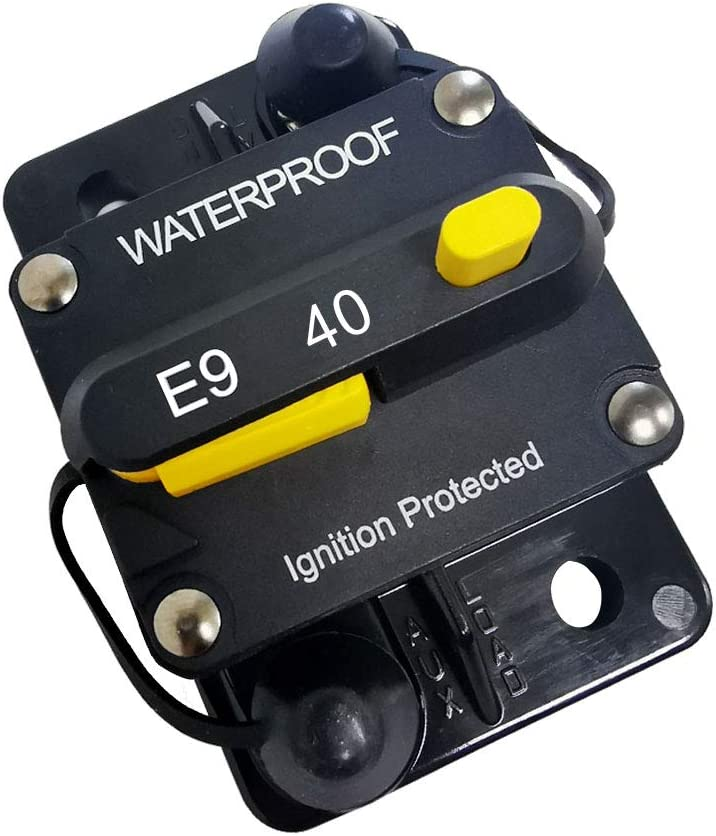 30A 30)Amp Circuit Protector Hi-Amp Type Circuit Breaker with Manual Reset,12V- 48VDC, Water Resistant
