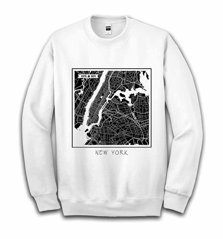Fox Republic ニューヨーク メトロポリタン 地図 ホワイト キッズ スウェット 150cm