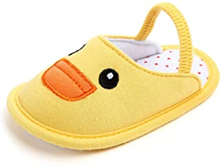 MeterMall 0-1 Year Old Newborn Baby Infant Toddler Breathable Cartoon Non-Slip Home Shoes