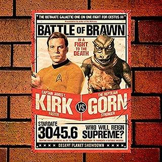 Fsdva Aquarius Star Trek Kirk Vs Gorn Retro Metal Sign 8X12 Wall Decor