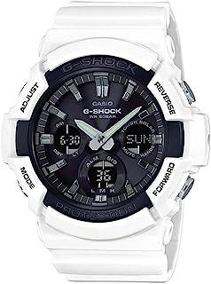 Men's G-Shock Japanese Quartz Watch with Resin Strap, White, 29 (Model: GAS-100B-7ACR)
