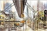 Poster 150 x 100 cm: Wuppertal-Collage von Städtecollagen