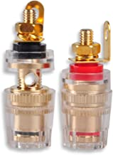 Speaker Cable Adapter, DCFun Pure Copper Gold Plated 4mm Banana Plug Terminal Binding Post for Speaker Amplifier - 5 Pair