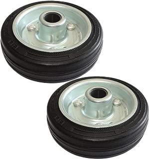 AERZETIX 2x Roue roulette pour meuble platine fix/é /Ø50mm W20mm H69.5mm 40kg plaque de montage 60x60mm C42230