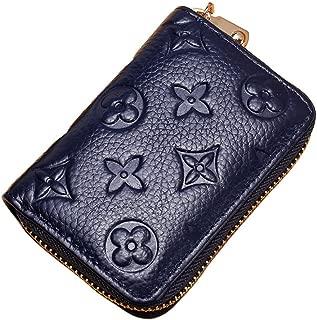 Women RFID Blocking Credit Card Holder Leather Small Cute Wallet Multi Zipper Purse