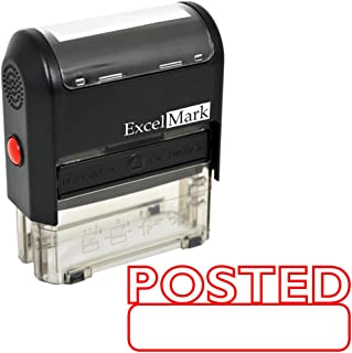 Posted Self Inking Rubber Stamp - Red Ink (ExcelMark A1539)