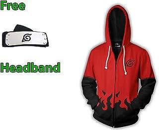 Naruto 3D Unisex Anime Pullover Hoodie Sweatshirt Hooded Sweater Kangaroo Pocket Free Headband