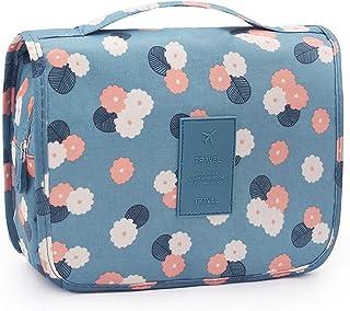 SAPU Portable Travel Makeup Cosmetic Bag Waterproof Haning Travel Kit Toiletry Bag Bathroom Organizer Carry On Case