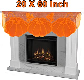 Thanksgiving Decoration Fireplace Scarf Mantle Scarf Cover 60 x 20 Inch Fall Runner Maple Leaves Table Runner Fall Fireplace Scarf Autumn Table Cover for Thanksgiving Door Table Fall Décor