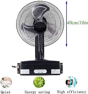 N / A Pared Spray frío del Ventilador del Aerosol del Ventilador Niebla humidificador Industrial, de 3 velocidades, Negro