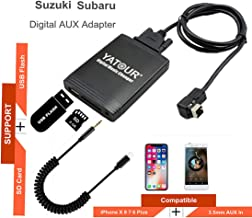 Suzuki Stereo AUX Adapter, Digital Car Audio Input Interface with SD Card, MP3 USB, 3.5mm AUX in, Music Player for Suzuki 1998-2001 (M06-SUZ1)