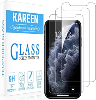 For iPhone 12 PRO MAX and 12 PRO and 12 and 12 mini - KAREEN (Pack of 3) Screen Protector Tempered Glass Highly durable, s...