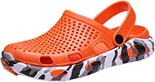 adc4f0e09356 OrchidAmor Men s Summer Hole Shoes Sandals Breathable Casual Outdoor  Non-Slip Beach Slipper