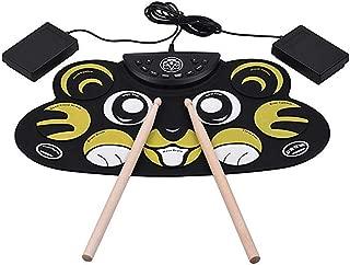 DAMUA Silicio de la Historieta redoble de Tambor electrónica hasta Drum Set Kit de niños de los niños con Baquetas Pedales Cable USB