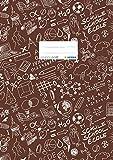HERMA 19425 Heftumschlag DIN A4 SCHOOLYDOO, Hefthülle mit Beschriftungsetikett, aus strapazierfähiger und abwischbarer Polypropylen-Folie, Heftschoner für Schulhefte, braun