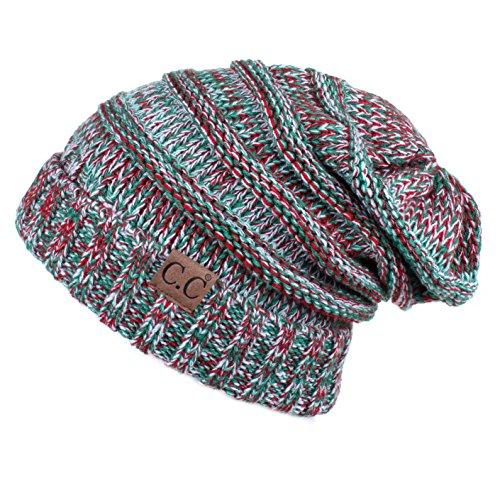 Hatsandscarf C.C Exclusives Unisex Oversized Slouchy Beanie (HAT-6242) (x-mas)