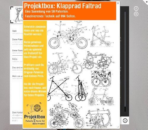 Klapprad Faltrad: Deine Projektbox inkl. 59 Original-Patenten bringt Dich mit Spaß hinter die Geheimnisse der Technik!