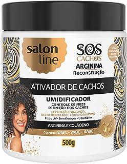 Salon Line Creme Ativador de Cachos Reconstrução, Branco