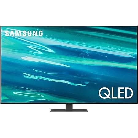 """Samsung QLED 4K 2021 Q80A - 65"""" Smart TV, Risoluzione 4K UHD, Processore Quantum 4K, Quantum Dot, OTS [Efficienza energetica classe, G]"""