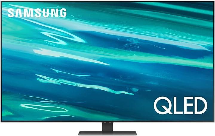 Smart tv 65 pollici samsung qled 4k 2021 q80a- risoluzione 4k uhd processore quantum 4k quantum dot ots QE65Q80AATXZT