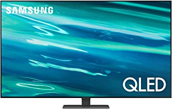 """Samsung TV QLED QE50Q80AATXZT, Smart TV 50"""" Serie Q80A, QLED 4K UHD, Alexa integrato, Carbon Silver, DVB-T2 [Efficienza energetica classe G]"""