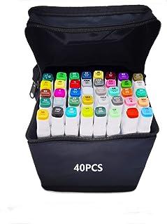 Joywish - Set di 40 pennarelli a colori per schizzo grafico a doppia punta permanente a base di alcool