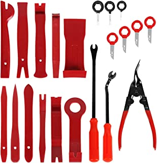 ABEY 21 Unidades Herramientas para Desmontar, Kit de Extracción de Tapicería de Palanca de Panel de Coche Panel Dash de Pu...
