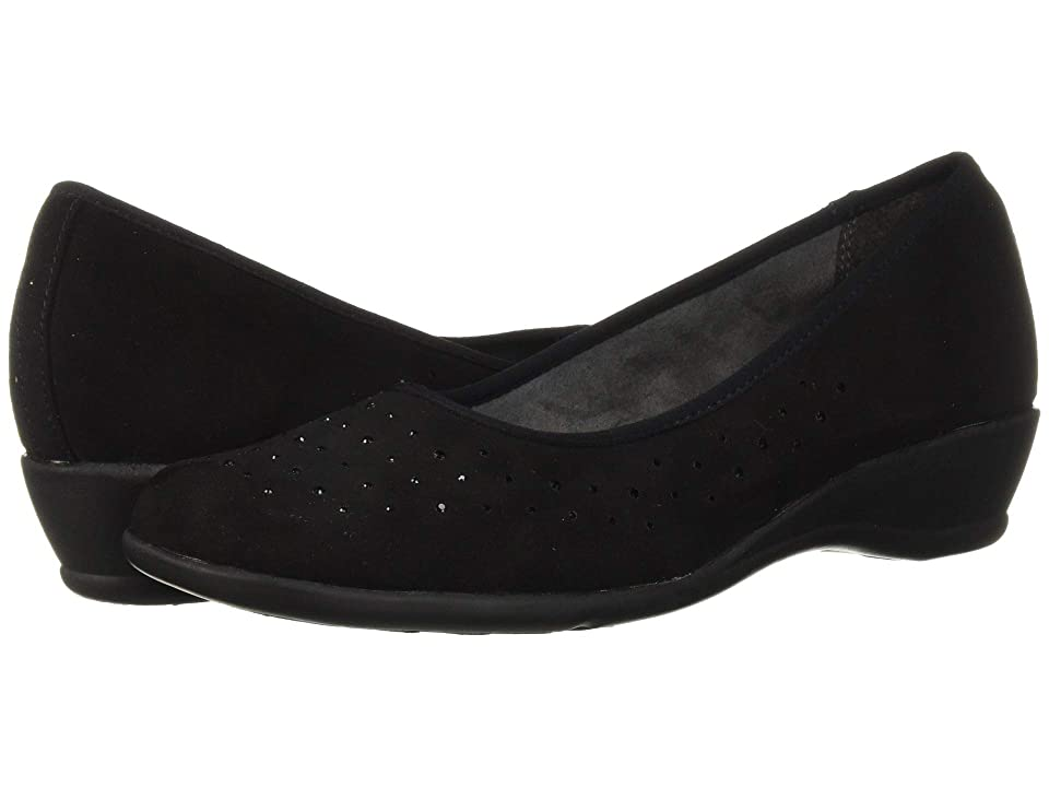 Soft Style Rubi (Black Faux Suede) Women