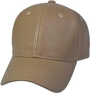 Top Level PU Leather Plain Baseball Cap - Unisex Hat for Men & Women - Adjustable & Structured for Max Comfort