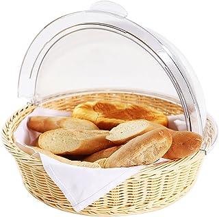 BoBoHome Panier de Rangement de Cuisine à la Maison Rond Support de conteneur d'affichage de Biscuits aux Fruits de Pain D...