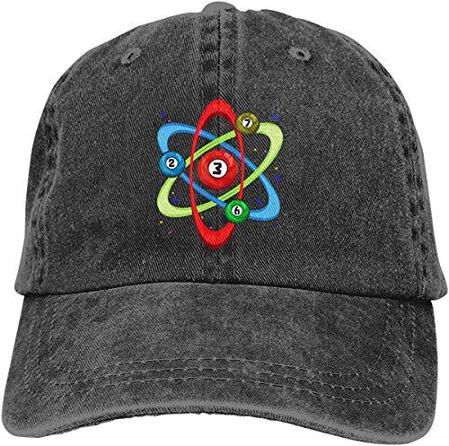 alemon Billard Atom Vintage Unisex Denim Hut verstellbare Baseball Cap für Erwachsene