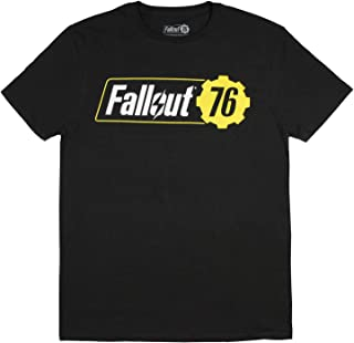 Fallout 76 Shirt Men's Adult Video Game Logo Black T-Shirt