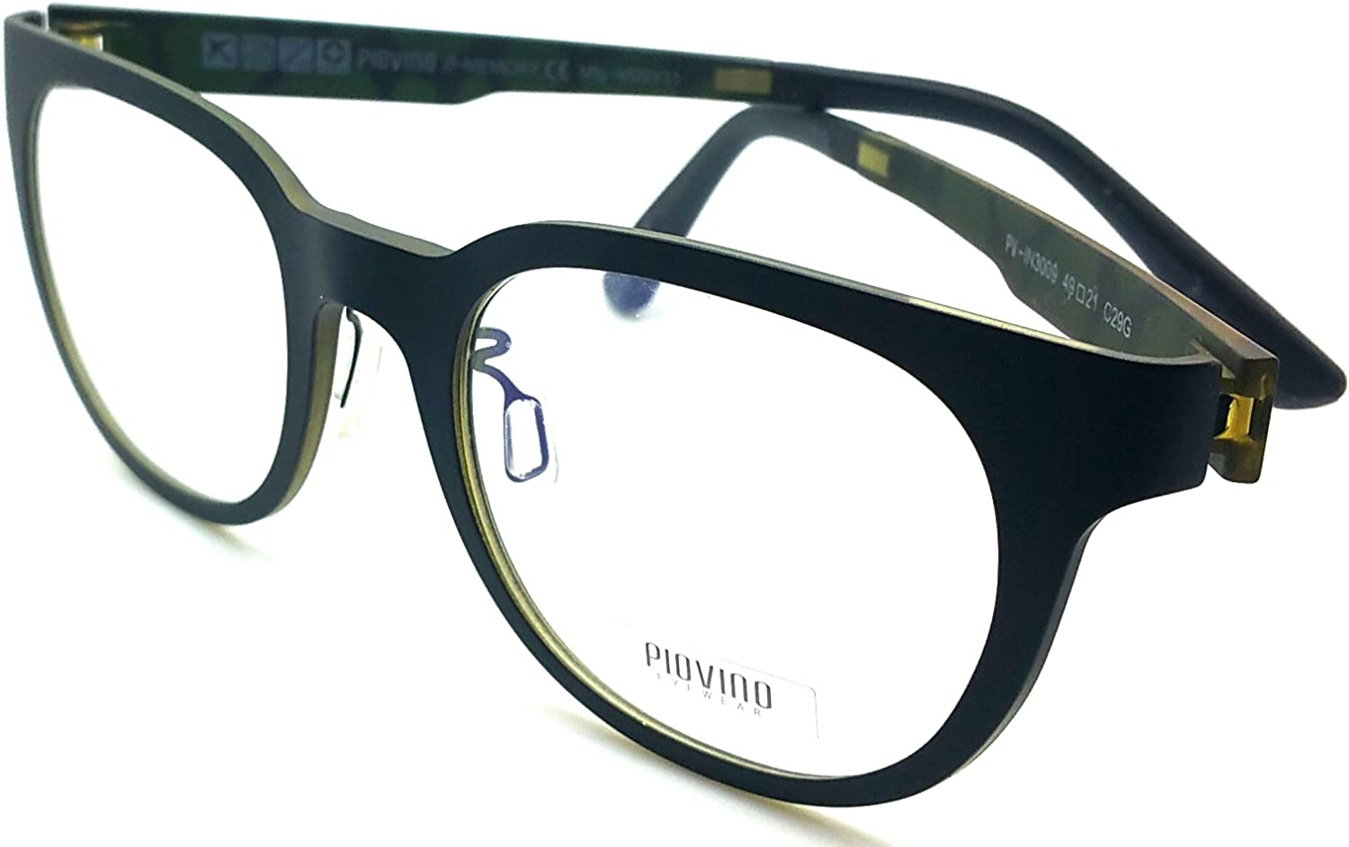 Piovino Prescription Eye Glasses Frame Ultem Super Light, Flexible 3009 C29G