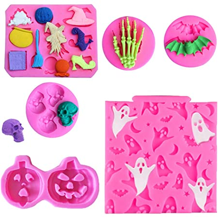 Soap Making and DIY Decorations Craft Making Halloween Alphabet Clay Silicone Mold Epoxy Resin Pendant Mold with Jewelry Molds Fondant Cake Candy Mold