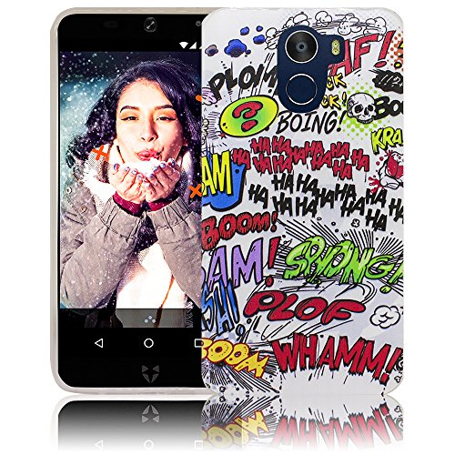 thematys Passend für WileyFox Swift 2 X 5.2 Comic Haha Handy-Hülle - Silikon - staubdicht, stoßfest und leicht - Smartphone-Case WileyFox Swift 2 X 5.2