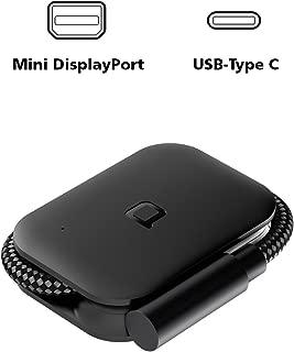 Nonda USB-C to Mini DisplayPort Adapter 4K@60Hz 5K@60Hz UHD, Foldable USB 3.1 Type C (Thunderbolt 3) to Mini DisplayPort Dongle for 2017/2016 MacBook Pro, 2016/2015 MacBook, Samsung Galaxy Note S8