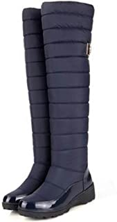 Dormery Russia Keep Warm Snow Boots Fashion Platform Fur Over The Knee Boots Warm Winter Boots for Women Shoes
