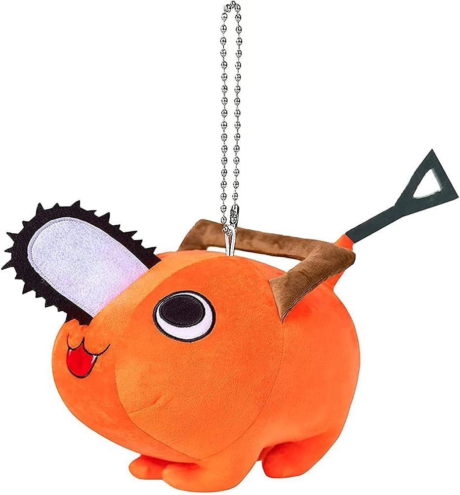 Tianbi Juguete de peluche para motosierra, lindo perro de monstruo de motosierra, almohada de peluche de anime, juguete para cosplay Plushie, juguetes de anime para regalos de niños